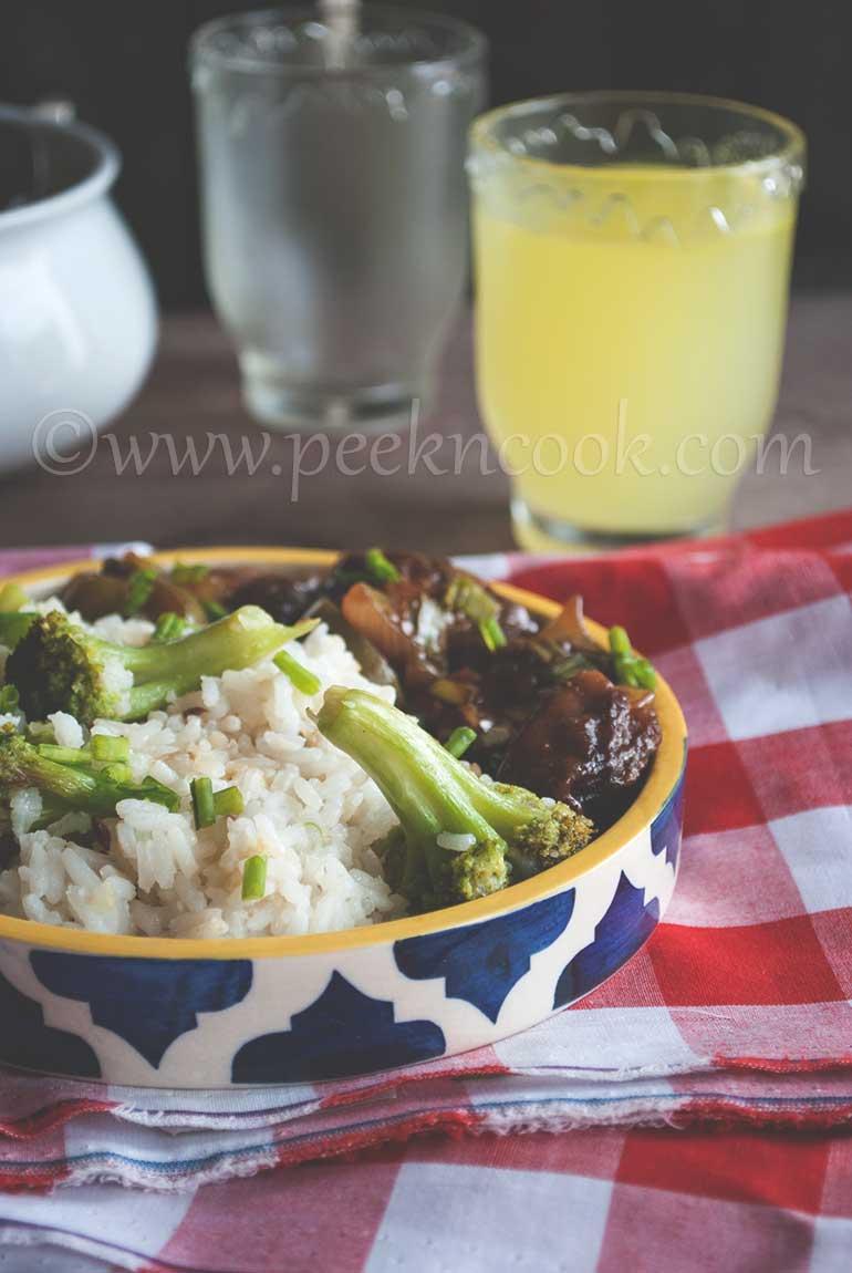 Stir Fried Rice With Brocoli