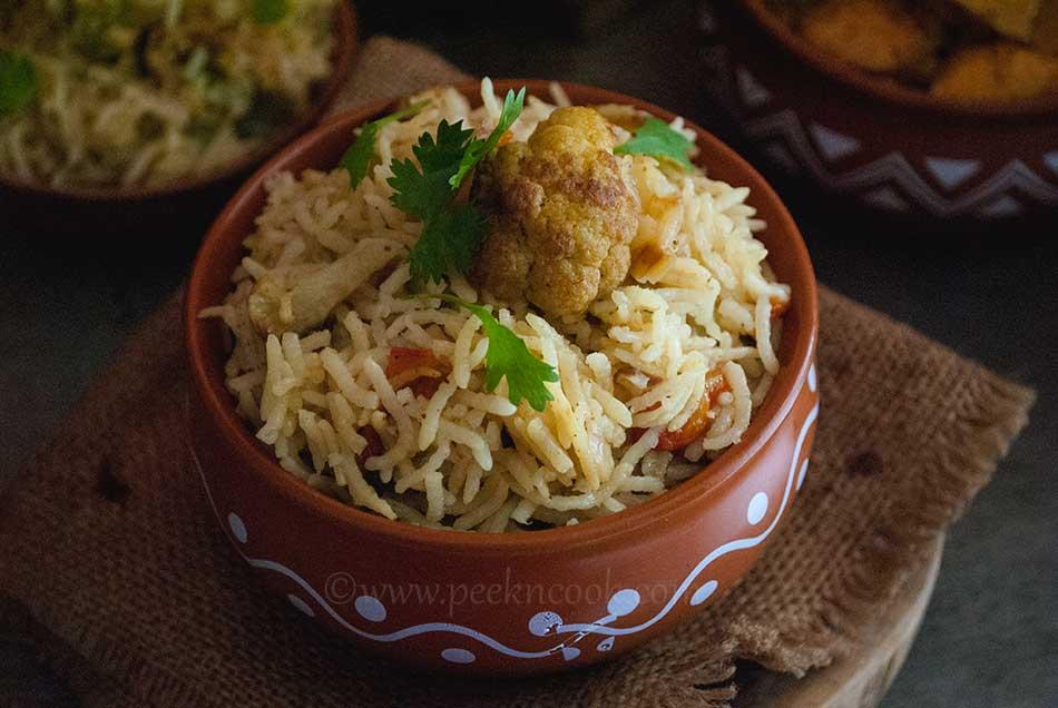 Cauliflower Rice Or Phoolkopir Bhat