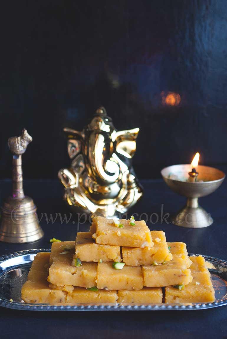 Instant Chanadal & Condensed Milk Burfi