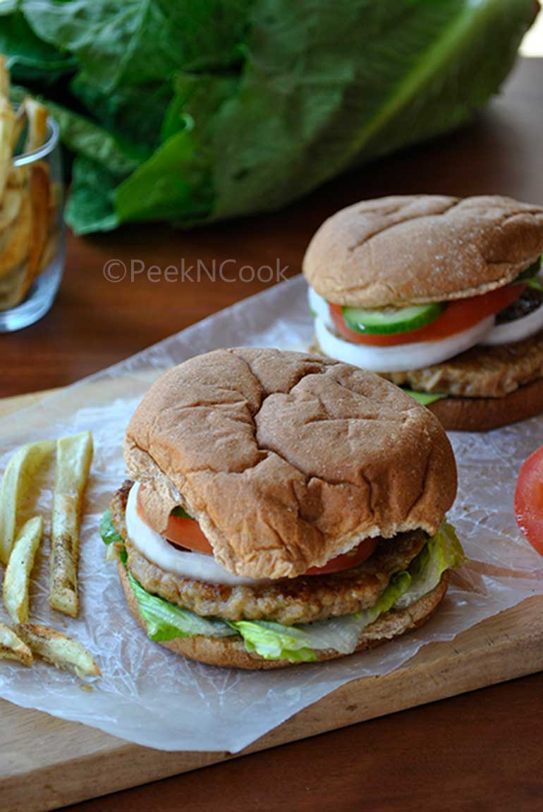 Homemade Spicy Indian Style Chicken Burger Recipe