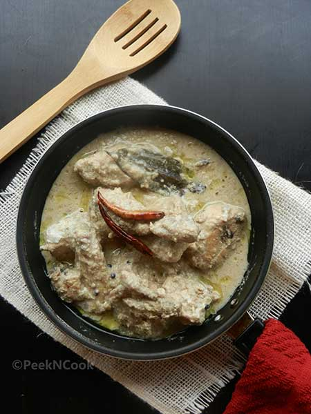 Bengali White Chicken Korma Or Chicken Rezala