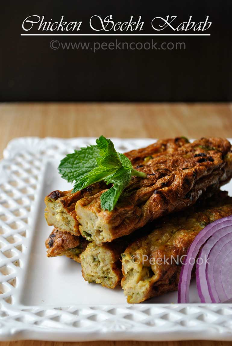 Indian Style Chicken Seekh/Sheekh Kabab
