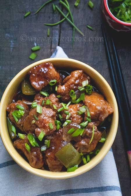 Kolkata Style Chili Chicken Or Indo Chinese Chili Chicken