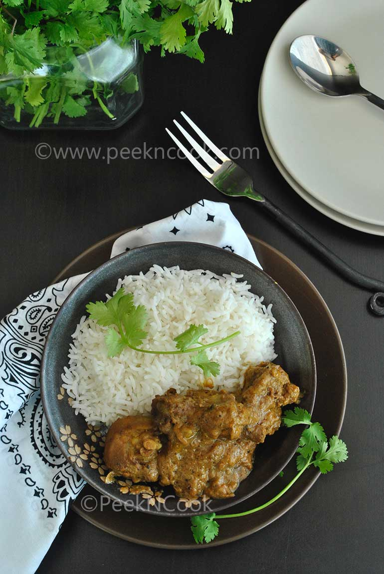 Dahi Chicken Or Doi Murgi Or Chicken In Yogurt Sauce