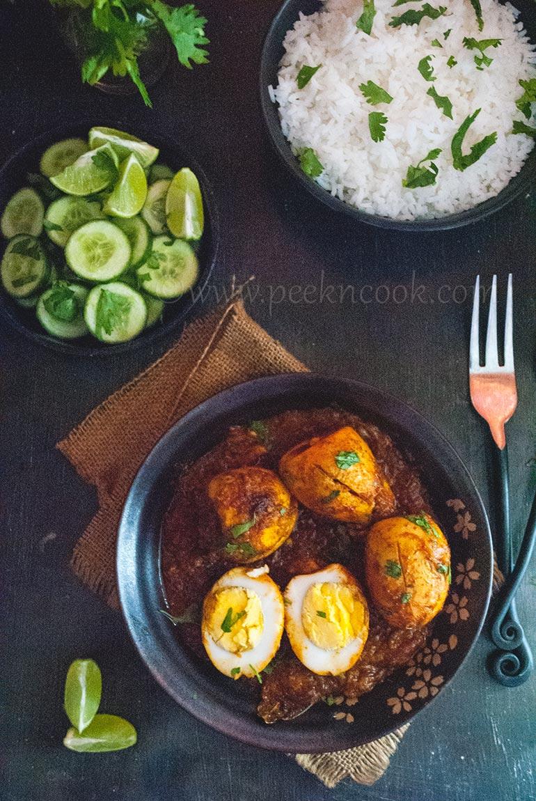 Dimer Kosha Or Spicy Egg Curry