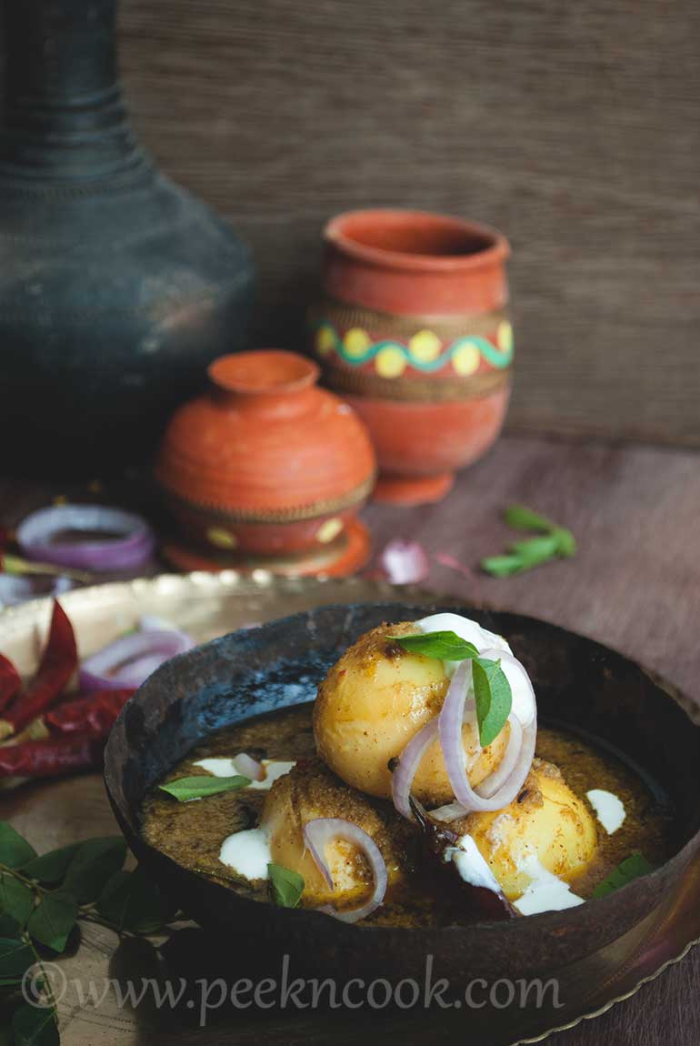 South Indian Style Shahi Egg Kurma Or Korma