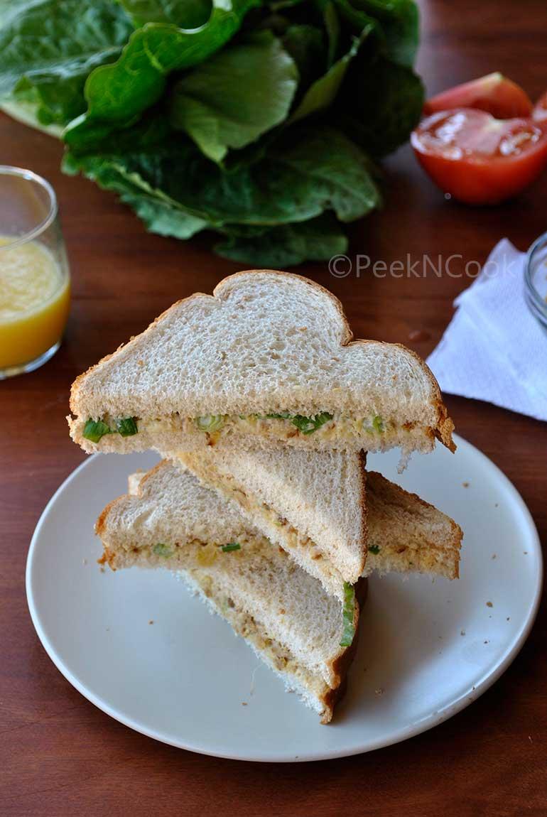 Indian Style Tuna Fish Sandwich