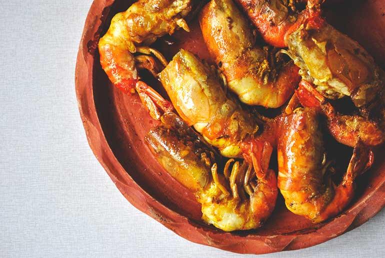 Golda Chingrir Malaikari Or Jumbo Prawn  Curry