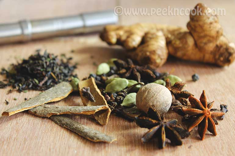 Indian Spiced Tea Or Desi Style Masala Chai