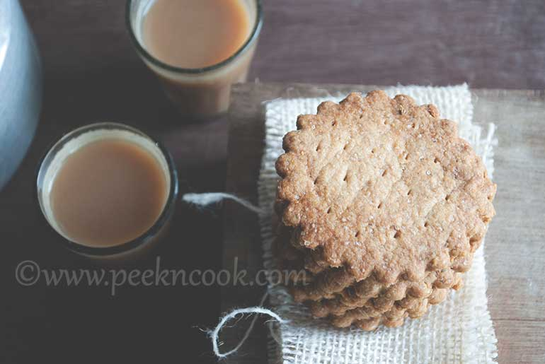 Indian Style Atta & Ajwain Biscuits
