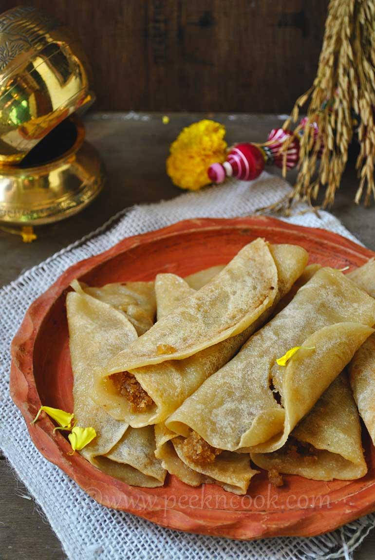 Bengali Coconut Stuffed Crepes Or Patishapta