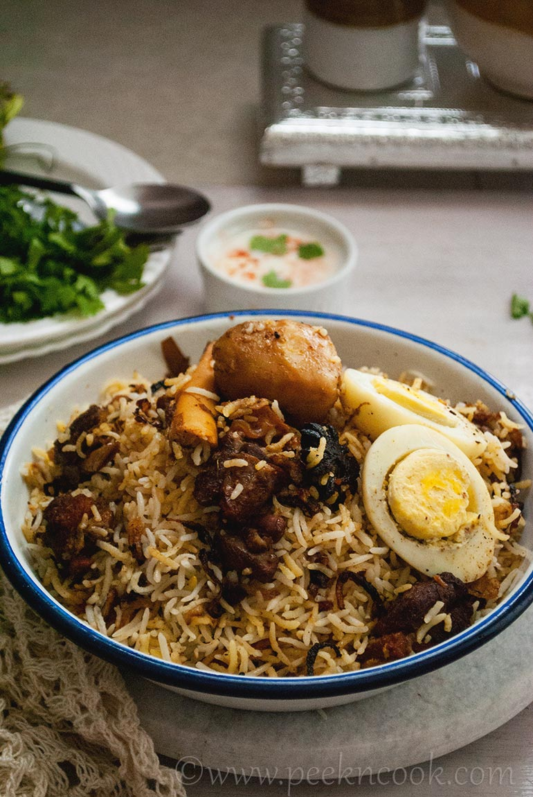 Kolkata Style Mutton Biryani