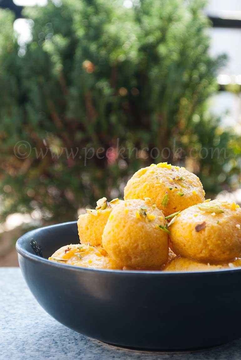 Komola Bhog Or Orange Flavored Rosogolla