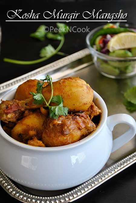 Bengali Chicken Curry Or Kosha Murgir Mangsho
