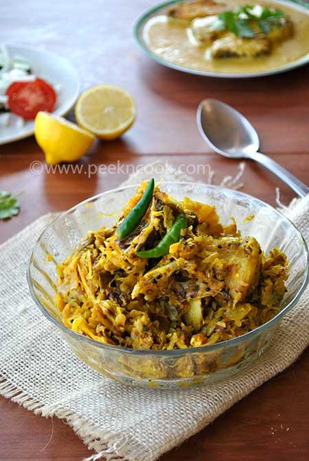 Cabbage With Fish head Mishmash