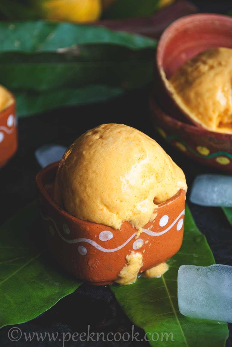 Mango Frozen Yogurt Without Ice-cream Maker
