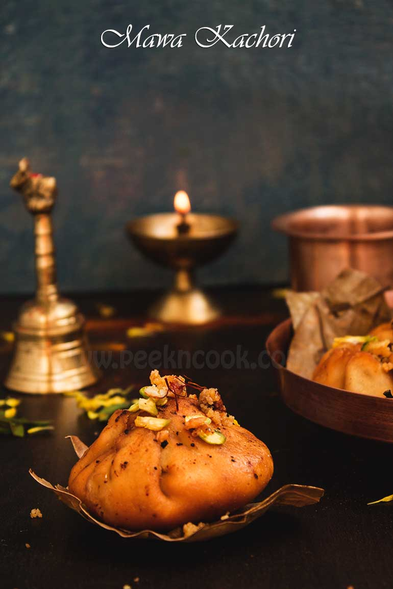 Sweet Kachori Filled With Sweet Khova/Mawa & Nuts