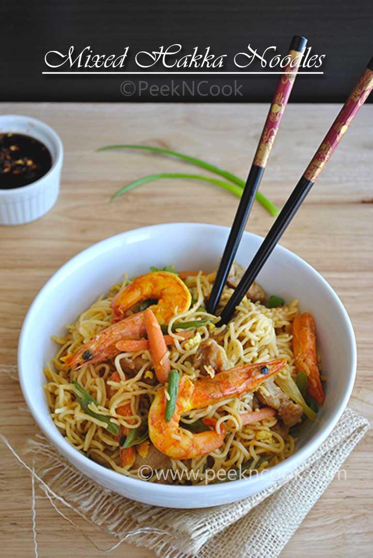 Mixed Chow mein Or Kolkata Style Mixed Chow mein