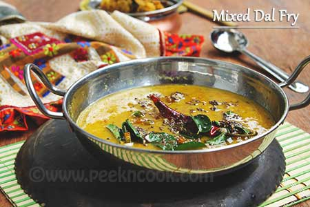 Mixed Tadka dal fry Recipe