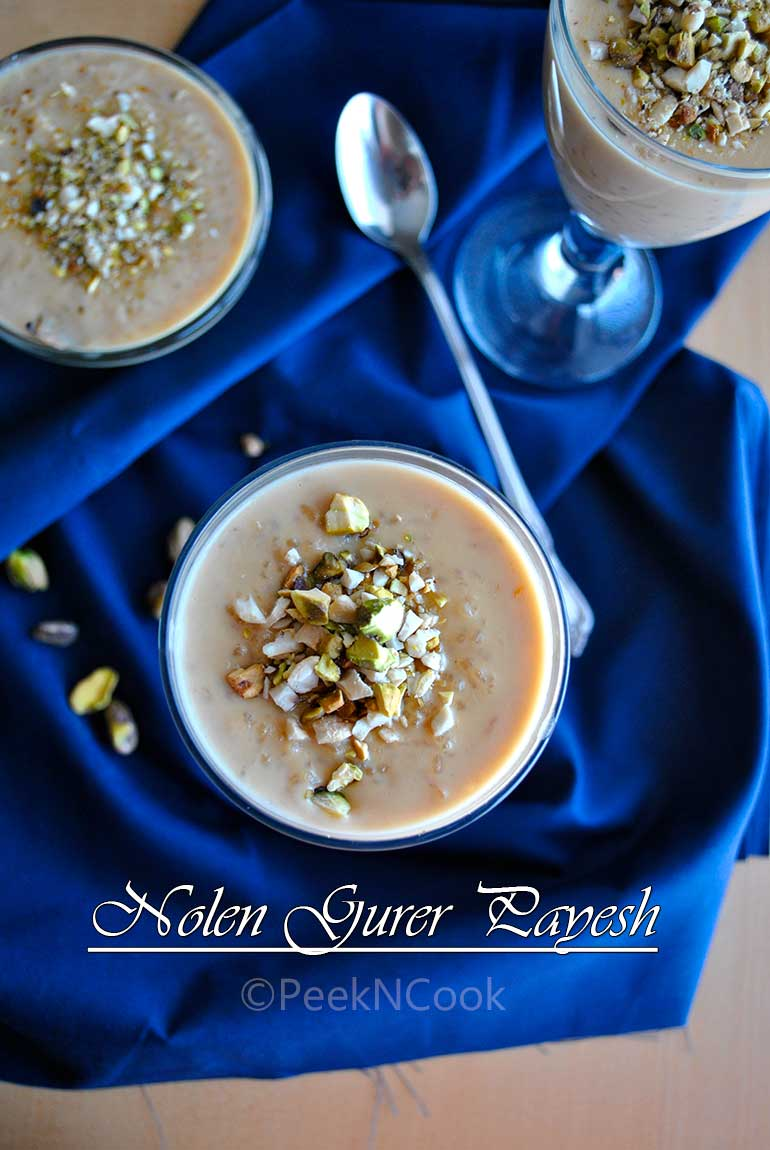 Bengali Nolen/Natun Gurer Payesh Or Bengali Style Rice Pudding With Date Palm Jaggery