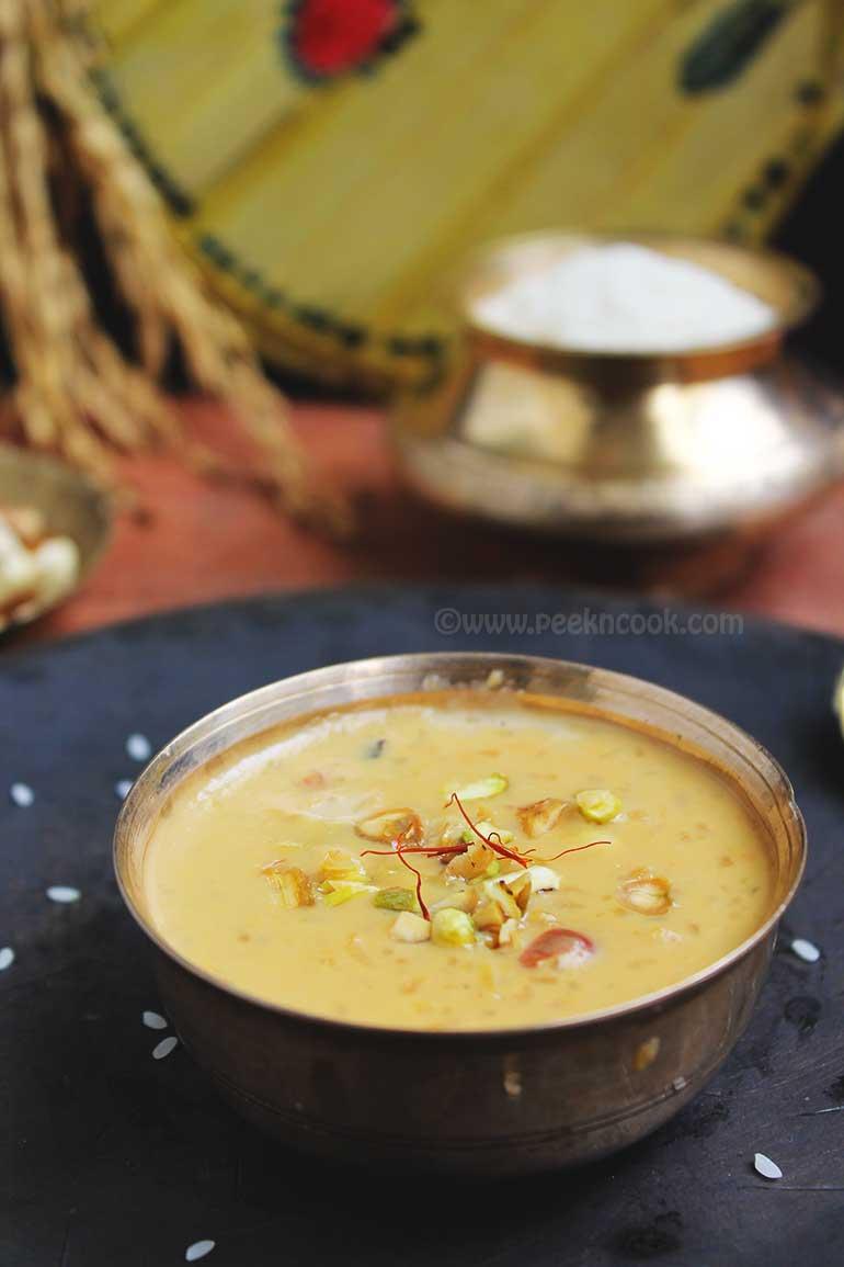 Bhoger Payesh/Poromanno Or Bengali Style Rice Pudding