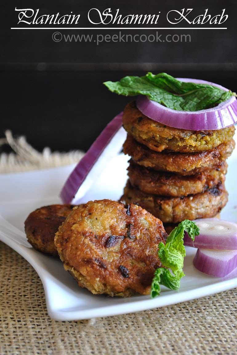Kacha Kolar Tikki/Shammi Kebab Or Kanchkolar/Kancha Kolar Chop/Kofta