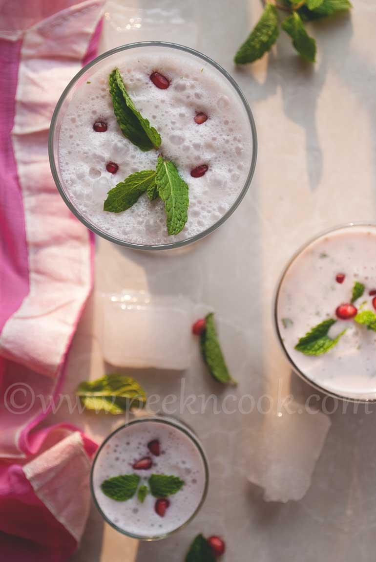 Pomegranate & Mint Lassi