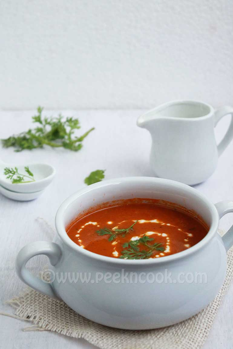 Pan Roasted Spicy Tomato Soup