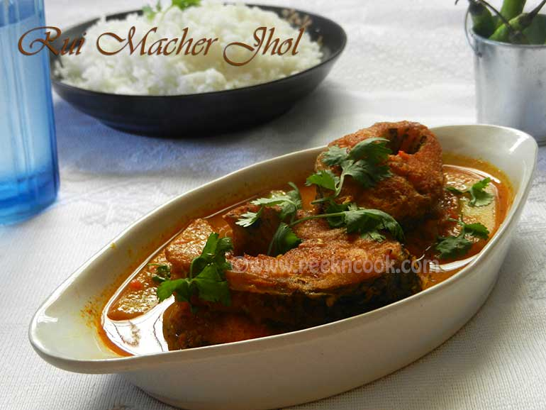 Easy Steps Of Rui Macher Jhol Or Bengali Rohu Fish Stew