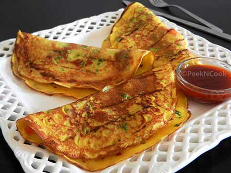 Egg Paratha Or Dimer Porota
