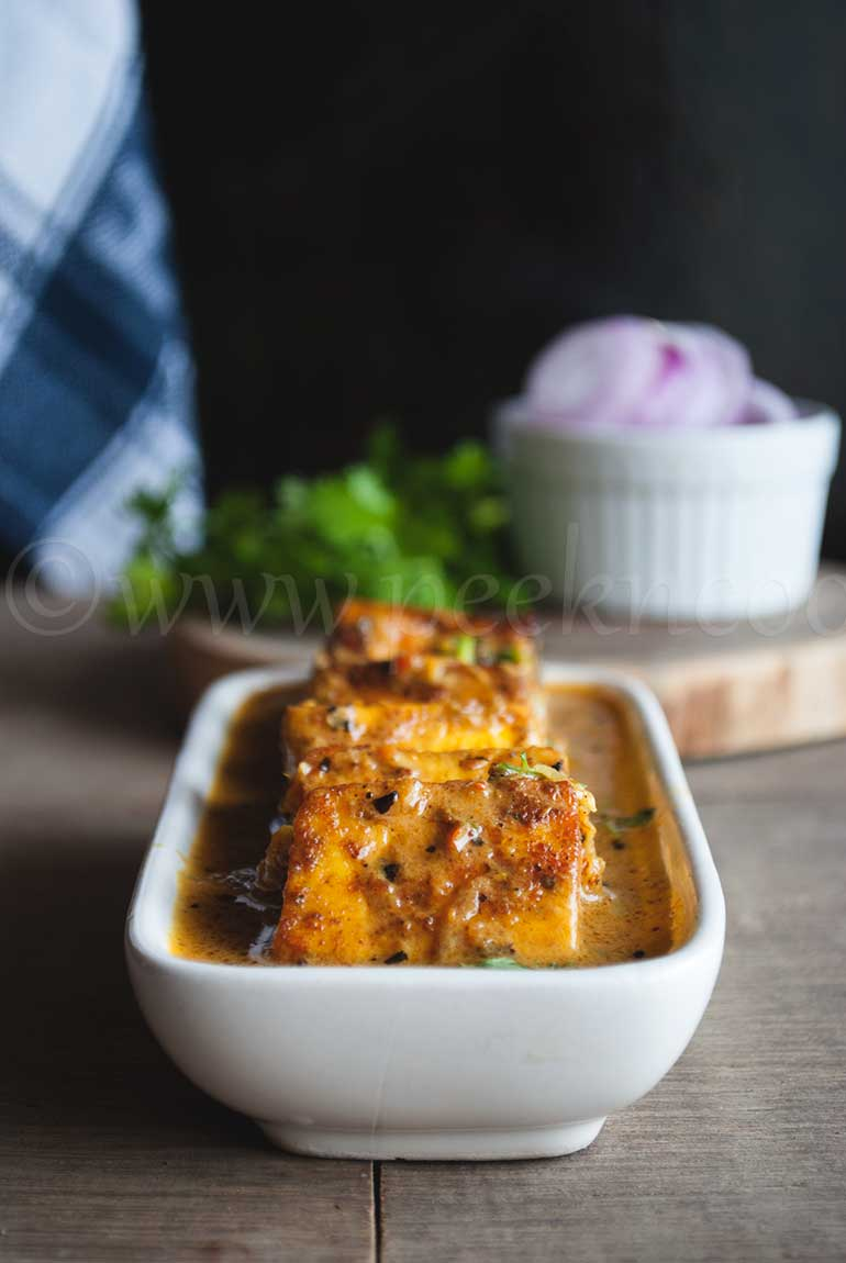 Grilled Paneer Cooked In Rich Gravy