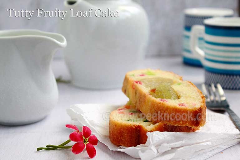 Tutti Fruity Loaf Cake For Christmas