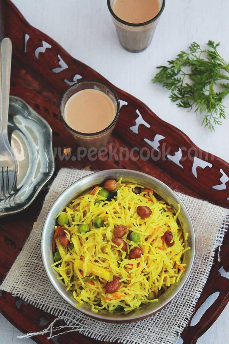 Vermicelli Or Semaiyan Upma For Breakfast