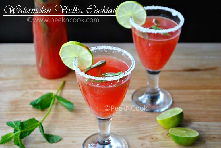 Watermelon & Vodka Cocktail Mix